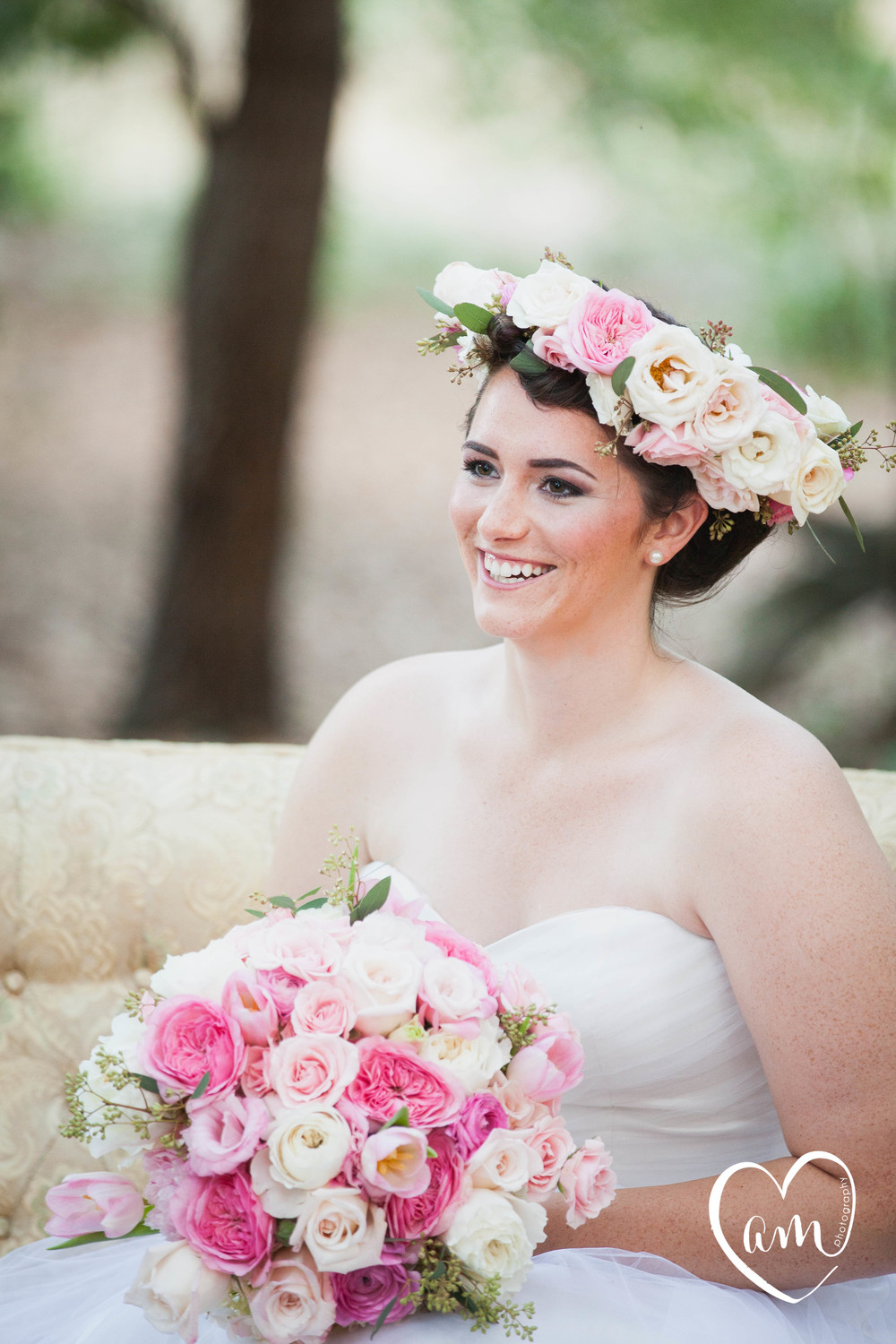 Floral Crown photographed by Florida Destination Wedding Photographer