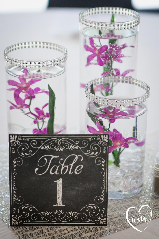 Chalkboard Wedding Table Numbers. Photo by Amanda Mejias Photography: Destination Wedding Photographer.