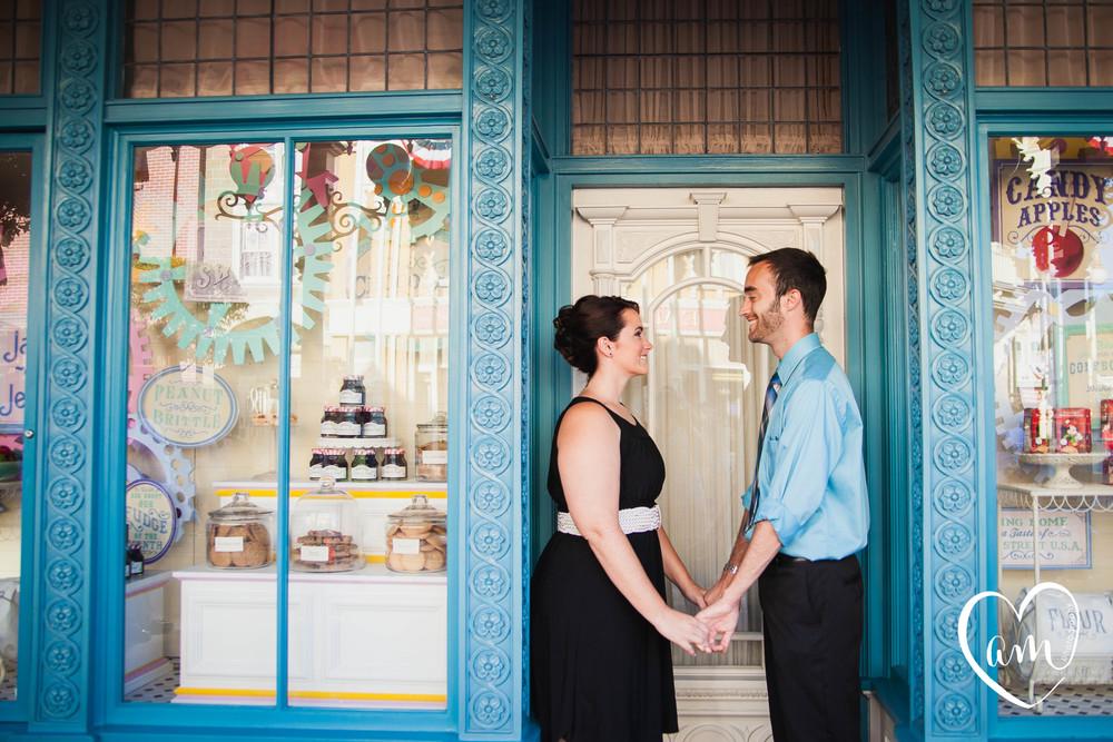 Engagement photos at Disney's Magic Kingdom by Amanda Mejias Photography: Orlando Destination Wedding Photographer