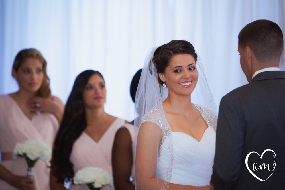 Bride and Groom say vows at Central Florida Wedding. Photo by Amanda Mejias Photography: Destination Wedding Photographer
