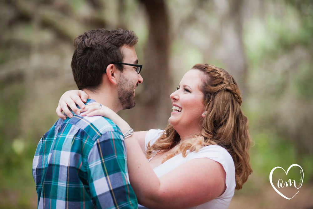 Forest engagement photos by Amanda Mejias Photography: Orlando Wedding Photographer