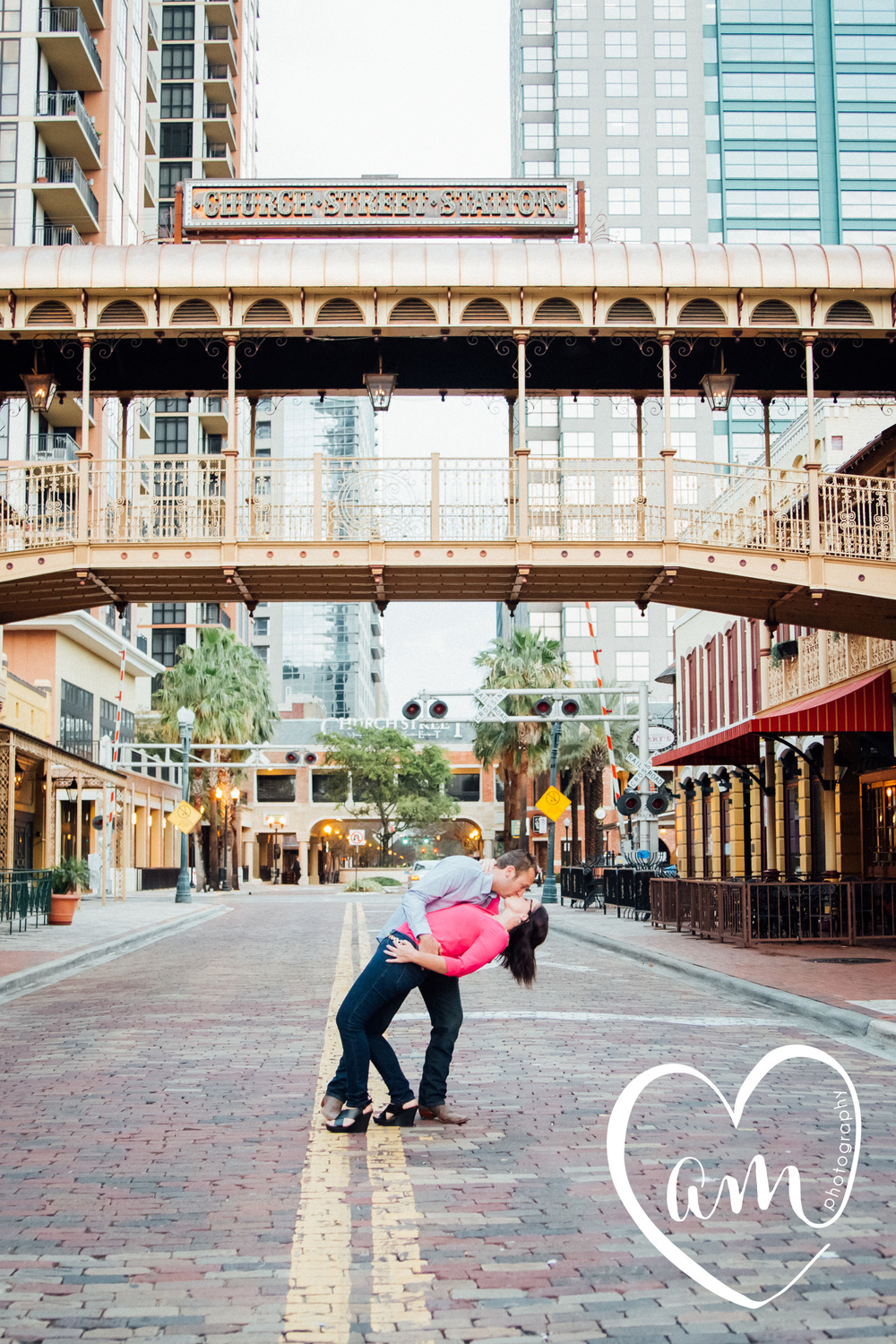 Downtown Orlando Engagement pictures. Church Street engagement session. Photo by Amanda Mejias Photography: Orlando wedding photographer.