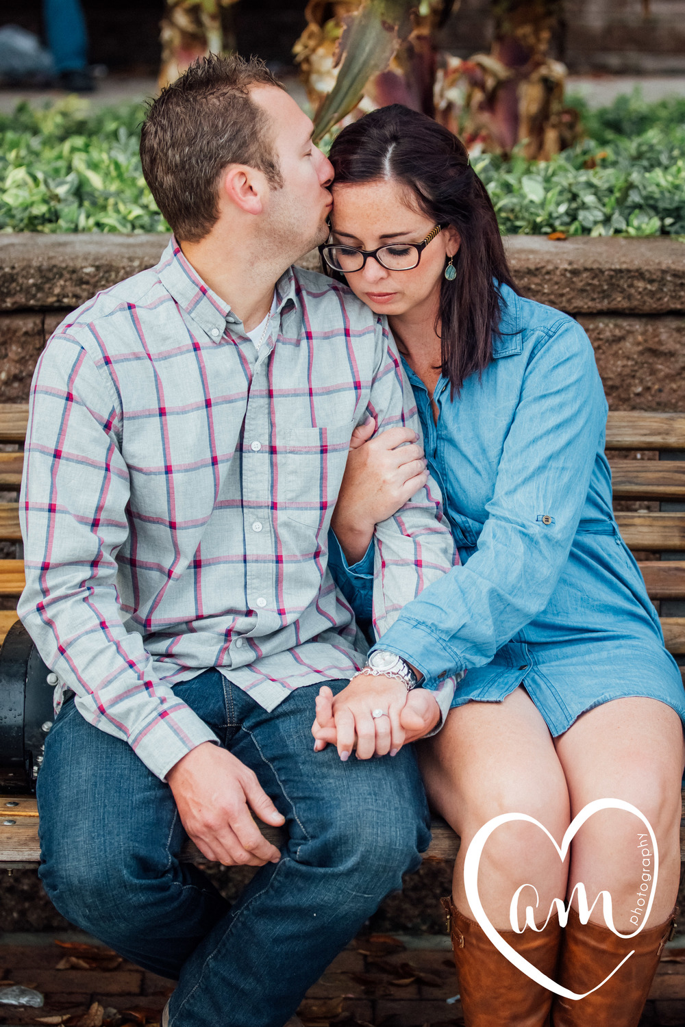 Sweet romantic engagement photos in Downtown Orlando. Church Street engagement session. Photo by Amanda Mejias Photography: Orlando wedding photographer.