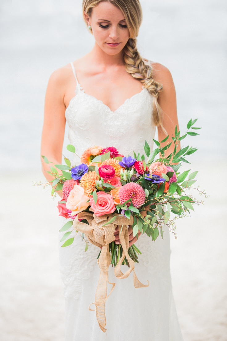 Colorful wedding bouquet.