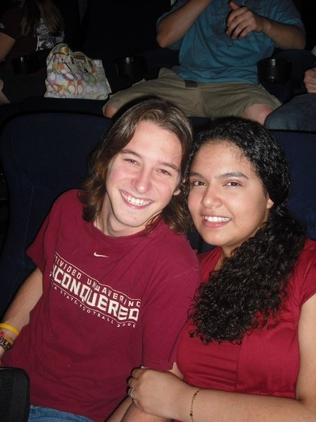 A photo of us at the midnight showing of Harry Potter and The Half Blood Prince. We were such babies!