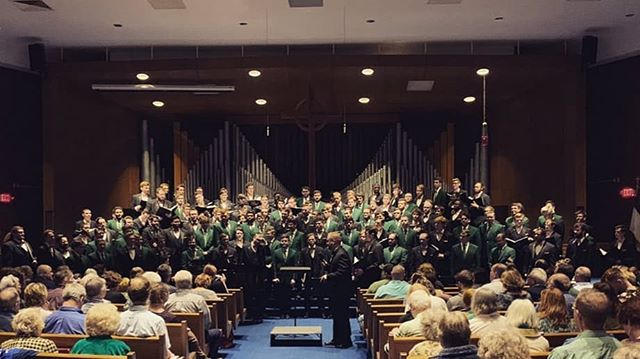 "Singing two of our favorite standards with @bgsumenschorus last night is an experience SMO won't forget anytime soon! There's something special about hearing over 100 men's choral singers perform ""Brothers, Sing On"" and ""The Awakening"" together. 📸: Victoria Anderson, PR Chair for the BGSU Collegiate Chorale."