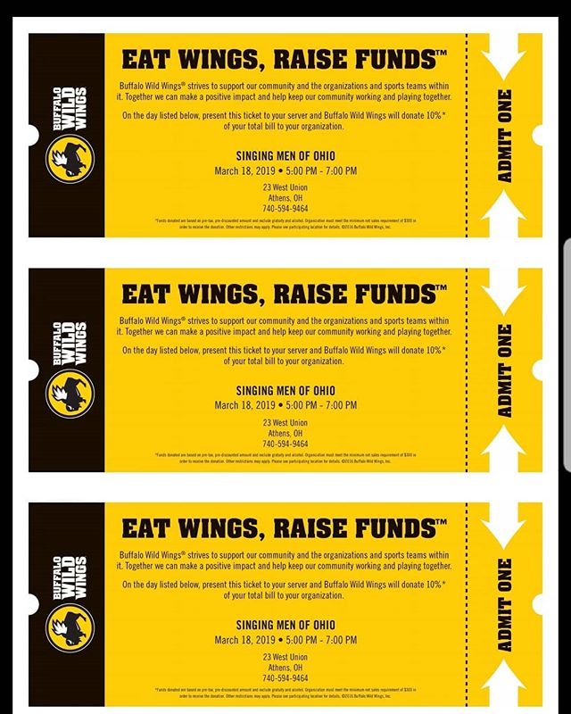 SMO is doing another fundraiser at Bdubs on Monday! Head to West Union Street between 5 and 7pm and show this to your server and 10 percent of your bill will be donated to SMO!