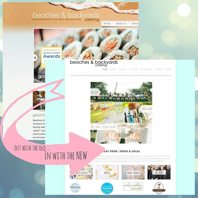 We are SO excited to share our completely updated website! Check it out 😊 Link in bio  www.beachesandbackyards.com #beachesandbackyards #hawaiiwedding #ono #catering #hawaiicatering #oahucatering #beachesandbackyardscatering #yum #webdesign #outwiththeoldinwiththenew