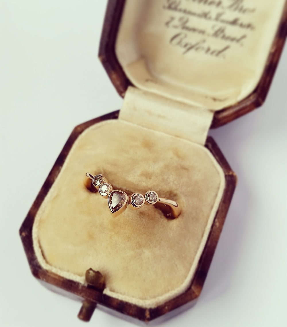 Natural Champagne Diamond Ring