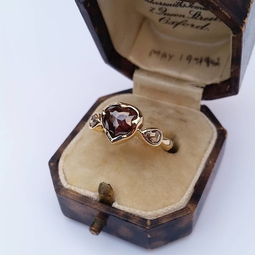 Rose Cut Chocolate Diamond Ring