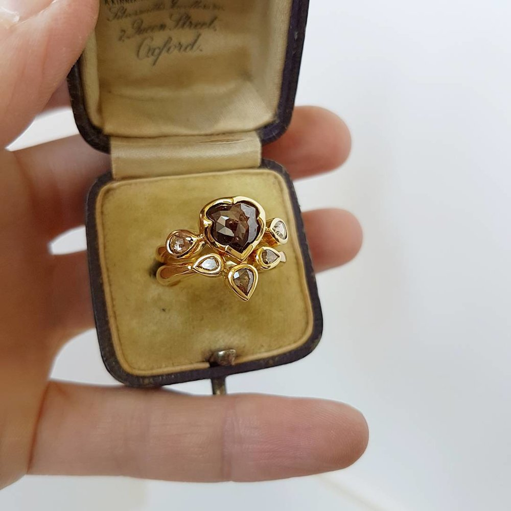 Chocolate Diamond Ring Set