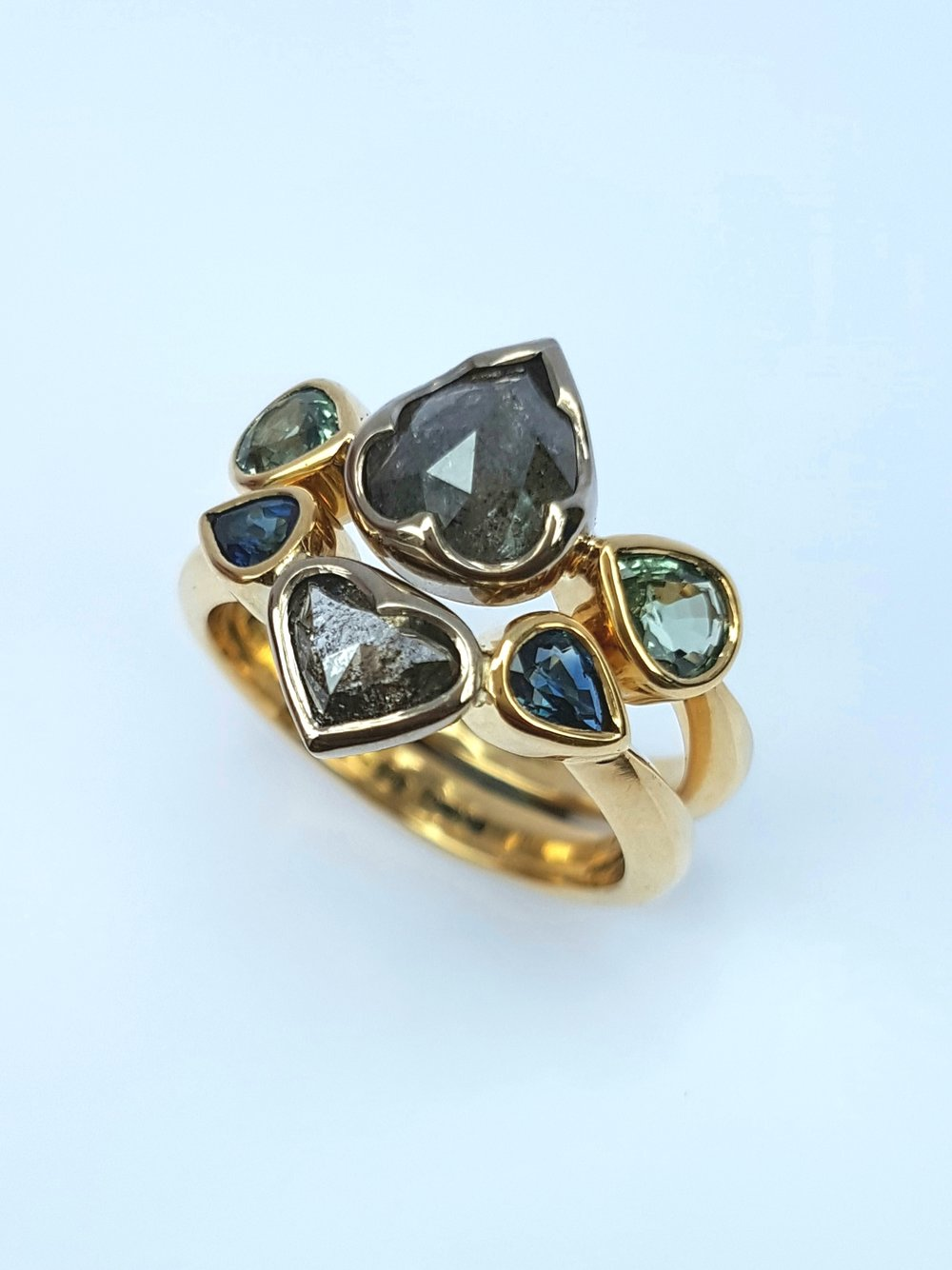 Grey Diamond Ring || Fran Barker Design