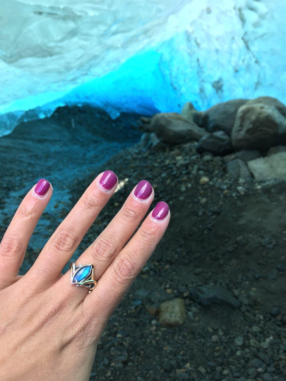 Marquise Labradorite Ring