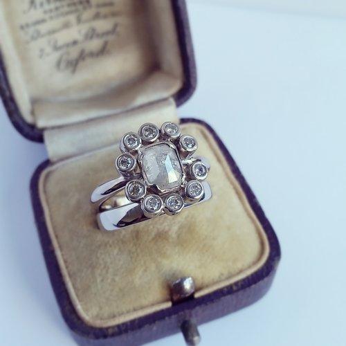 Custom+rose+cut+diamond+engagement+ring+set.jpg
