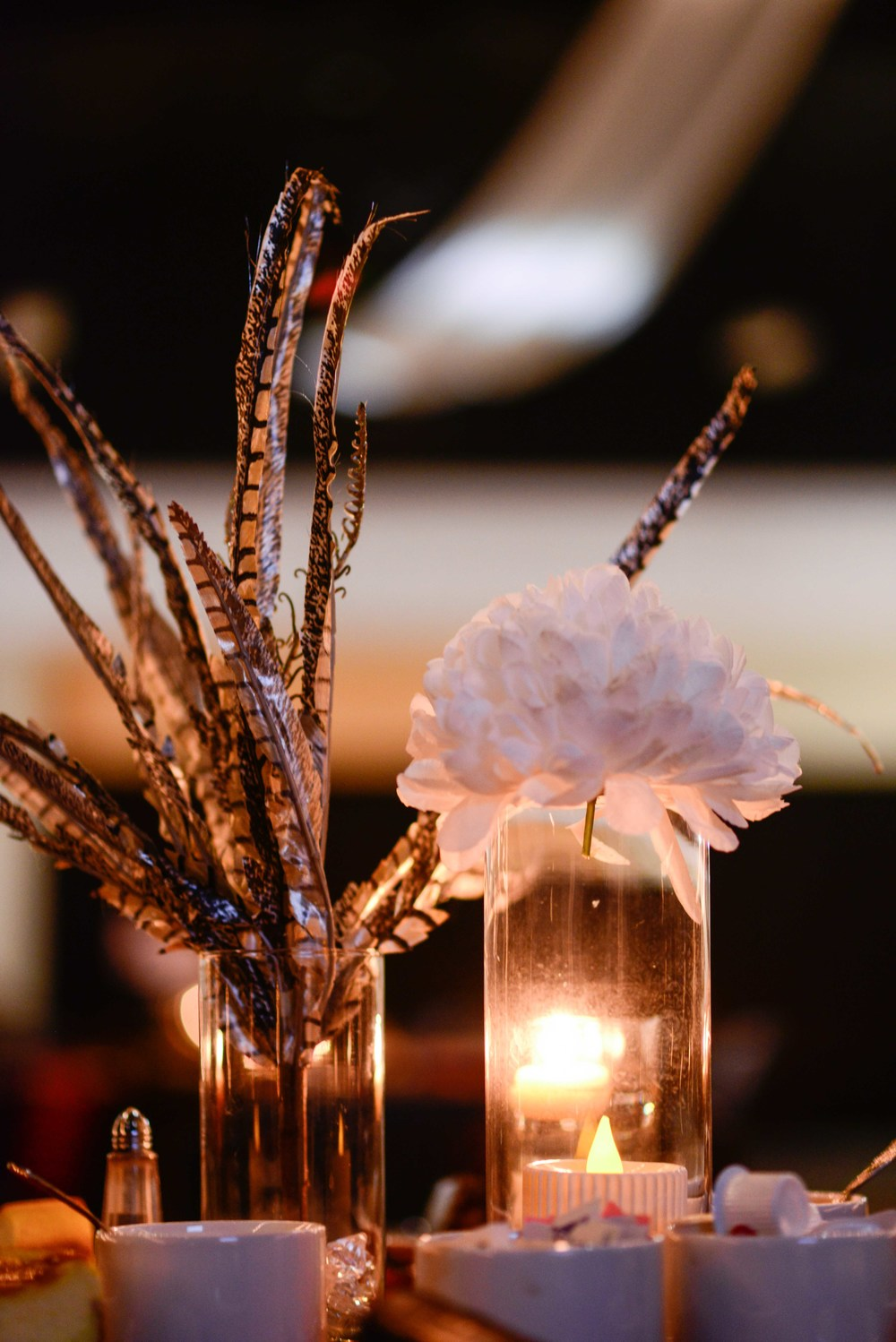 Centerpiece decorations by Praise Unlimited Weddings of Abbeville SC.