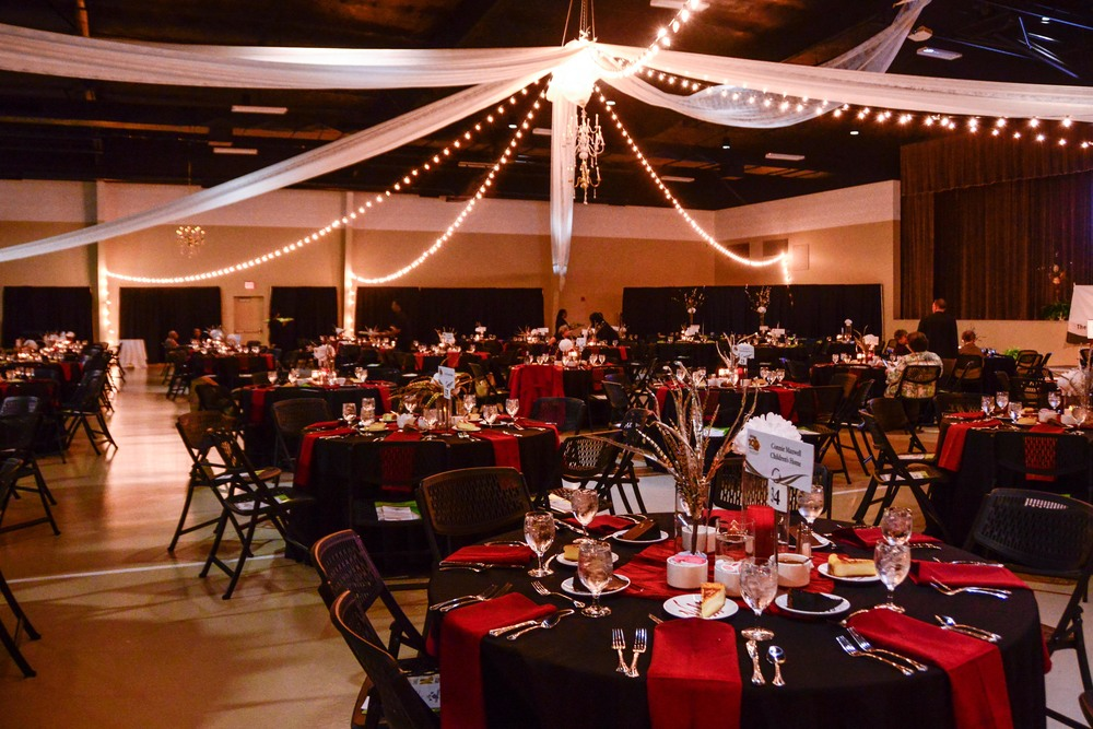 Decorations by Praise Unlimited Weddings in the Piedmont James Medford Event Center.
