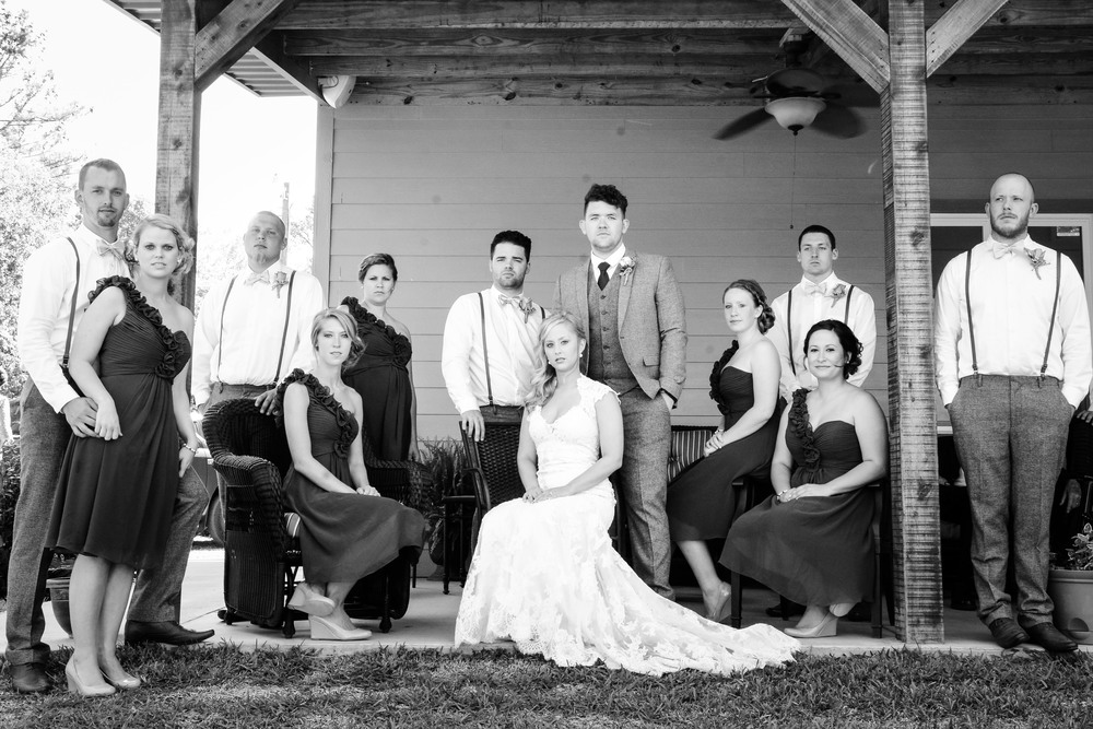 Personally I think that a fashion inspired stylized bridal party portrait is way more fun than your traditional look.
