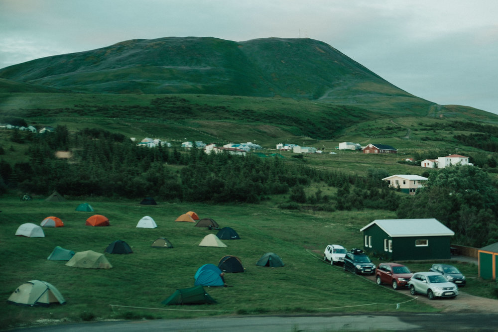 A good example of one of the many little campgrounds scattered around Iceland.