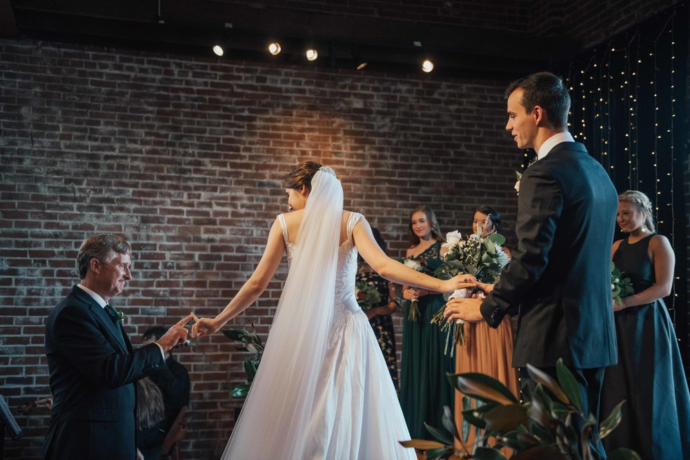 """And Autumn even stopped with her dad to have this little """"I love you"""" moment again as her dad gave her away at the alter."""