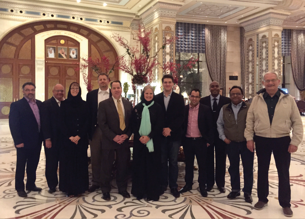 The International Business Services team, during a recent trade mission to the Middle East.