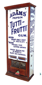 The Thomas Adams Gum Company's Tutti-Frutti dispenser