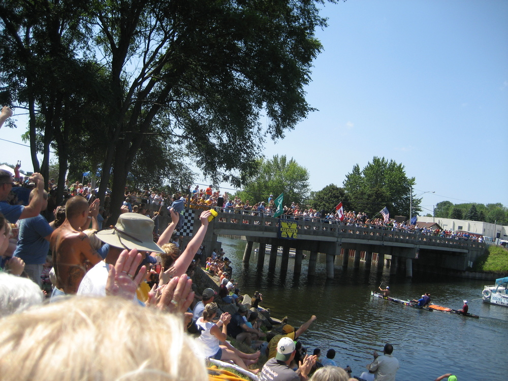 The Au Sable River Canoe Marathon, 120 river miles from Grayling to Oscoda, is a favorite annual pastime for paddlers and spectators alike. The 68th event is scheduled this year on July 25 and 26.