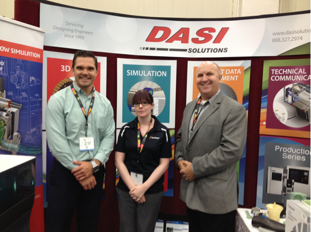 Jonathan Crabtree, Laura Schmidt and David Darbyshire of DASI Solutions.