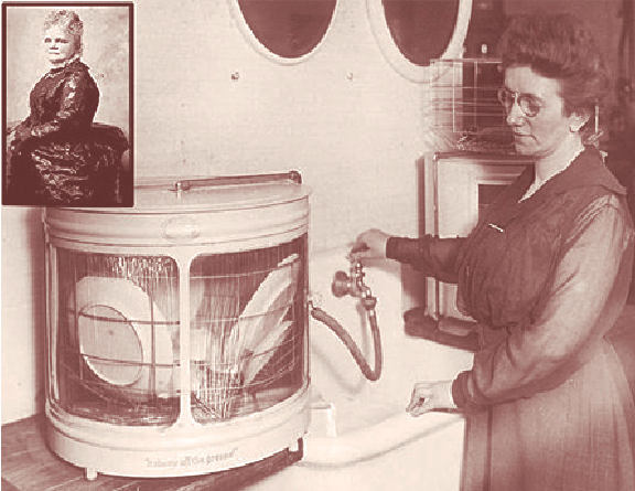 Josephine Cochran, inventor of the first automatic dishwasher.