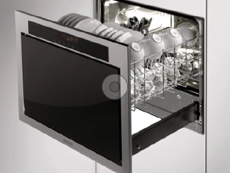 Modern dishwashers such as the Baumatic model (below) use as little as 2 gallons of water per cycle.