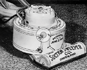 James Spangler's Suction Sweeper.