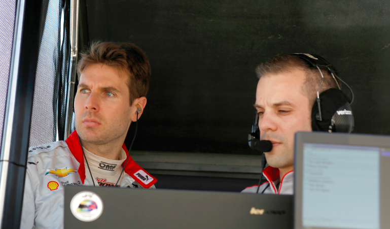 No. 12 Verizon Team Penske driver Will Power and race engineer. Photo by David Faustino  LAT USA