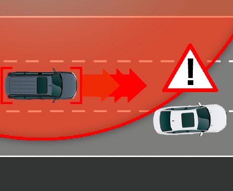 Lane change assistant is one of the many functions HELLA's 24GHz radar sensors offer. Further functions include blind spot detection, rear cross-traffic alert, rear pre-crash and vehicle exit alert.