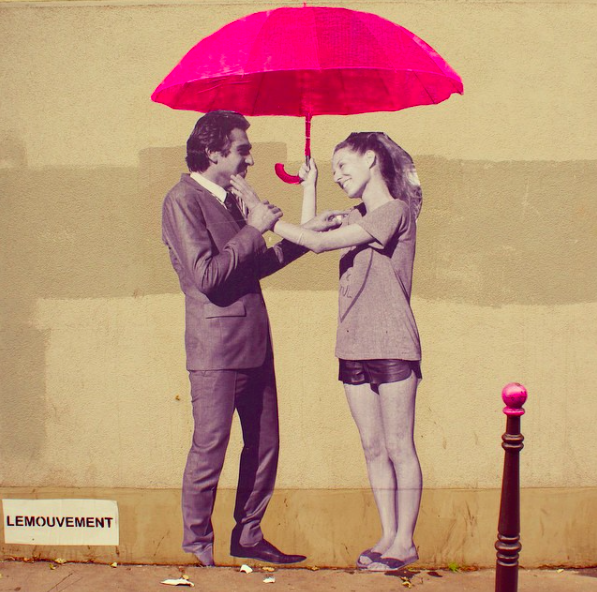Le Mouvement Parapluies - Rue des Cascades à Paris 20
