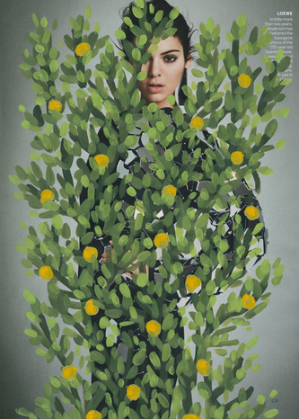 'Untitled' (Kendall Jenner by Inez & Vinoodh for Vogue, March 2016, Green), 2016.©Michael de Feo
