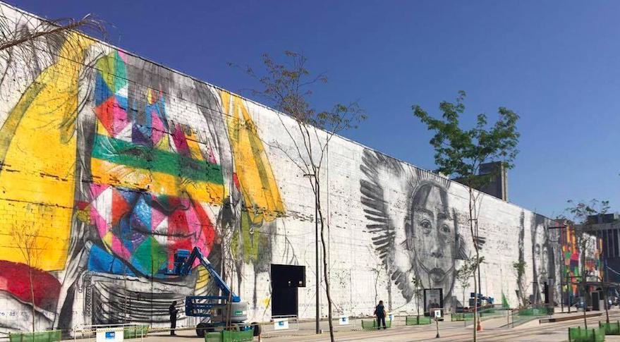 """Wall """"We are all one """" By Kobra - Rio de Janeiro"""