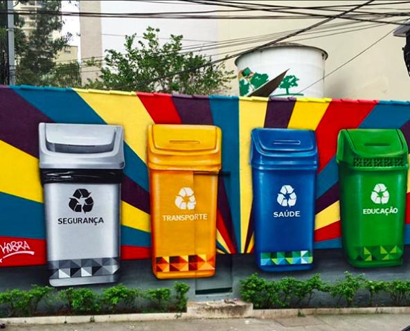 cesto de lixo ...©Kobra Sao Paulo