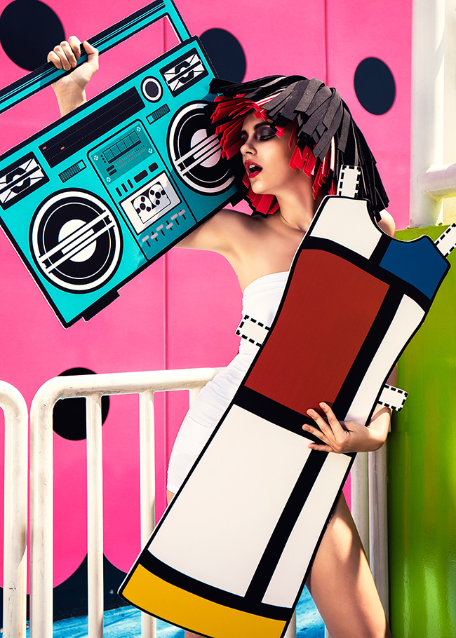 Yves Saint Laurent - the mondrian dress - Reality Paper Doll series ©Ajax Lee
