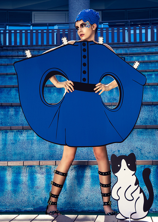 Pierre Cardin dress Reality Paper Doll series ©Ajax Lee