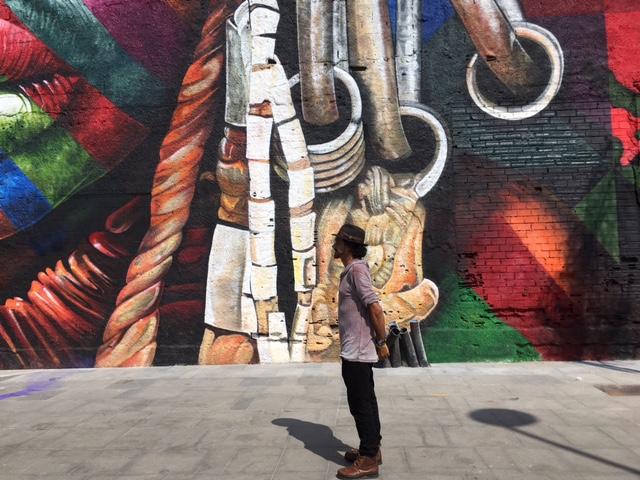 """Kobra  & Mural """"Todos somos um"""" ©Kobra Rio 2016 - photo VA deepthroat.fr"""