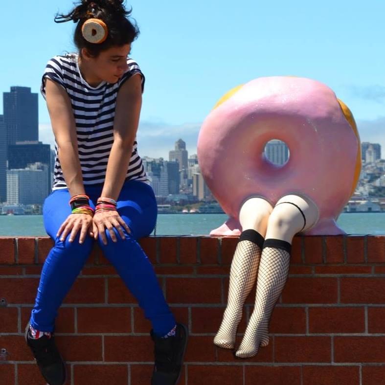 Camila Valdez & Miss Donuts - photo courtesy Camila Valdez