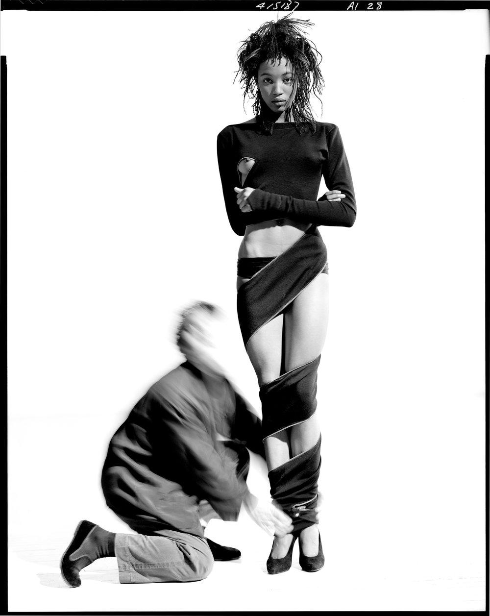 Azzedine Alaïa and Naomi Campbell, 1987 © Arthur Elgort