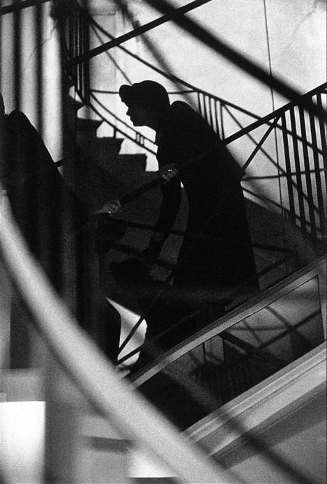 Coco Chanel lors de son defilé. 1958© Frank Horvat
