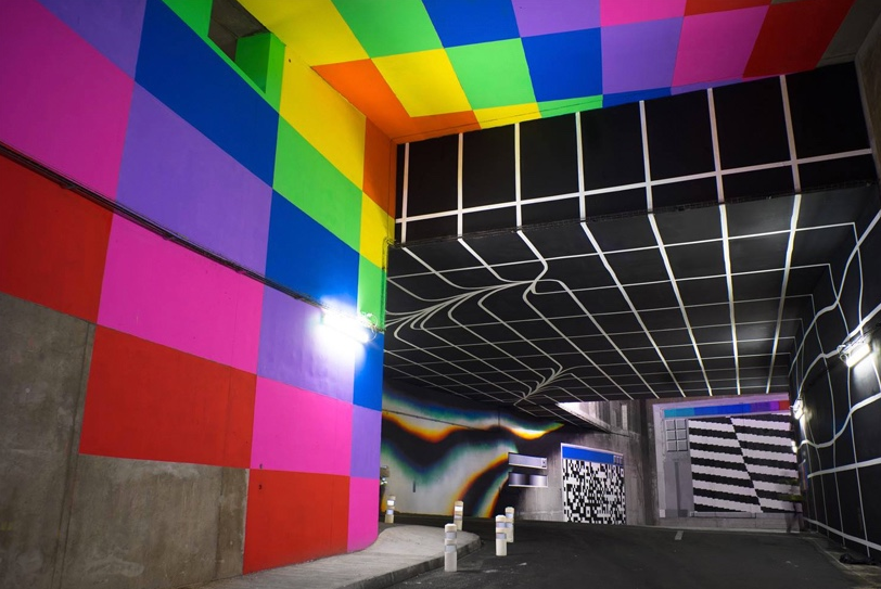 Felipe Pantone - Data Somersault (hlm avec Vinci Autoroutes - Photo Nicolas Gzeley - 2015