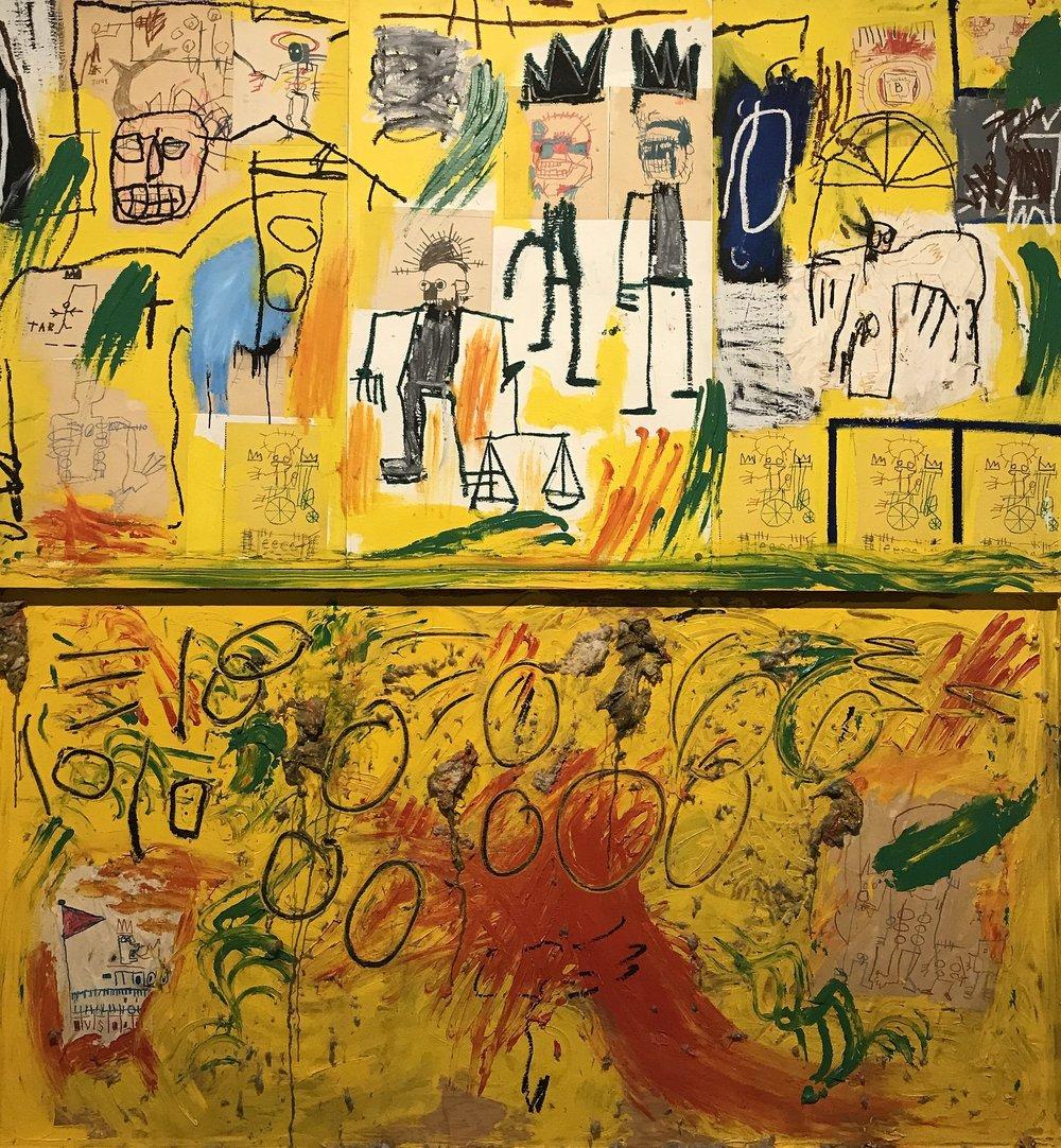Alcatrão e Penas Amarelos - 1982 , Basquiat Foto ©  Elias Rovielo