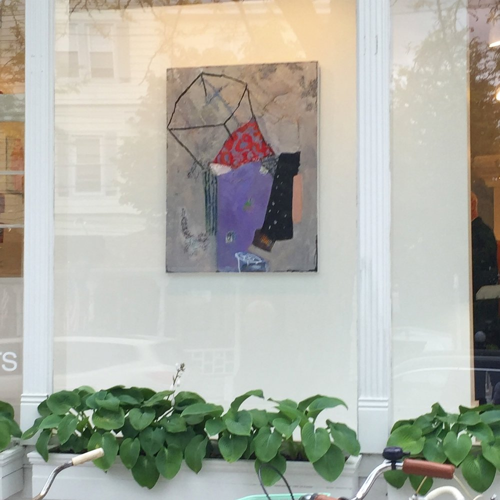 """Resist "" in the front window of Marquee Project Gallery, 2017"