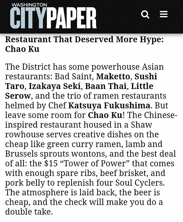 WOW! This is totally awesome! 💜 Everyone, grab some folks you love, go eat some rad food, & have a good time together at all of these sweet places! BIG THANK YOU @btmenu !  #chaokudc #shawdc #shawmainstreets