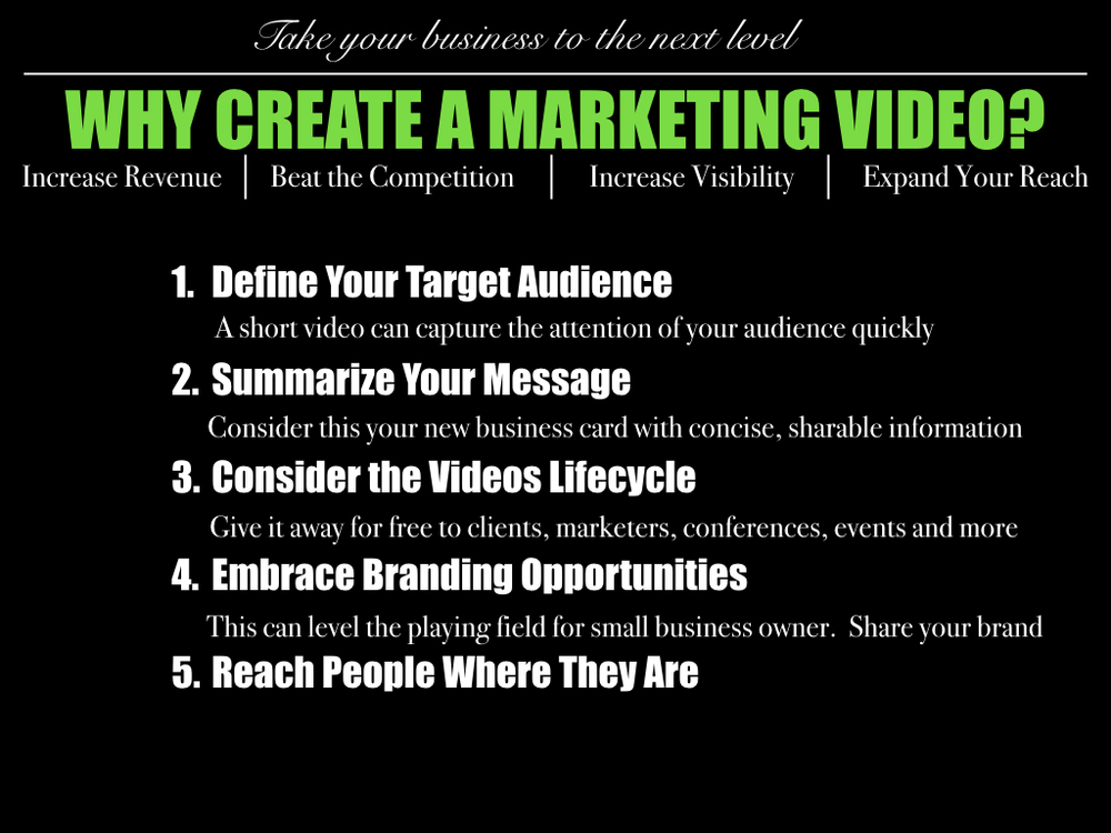 Why Create A Marketing Video