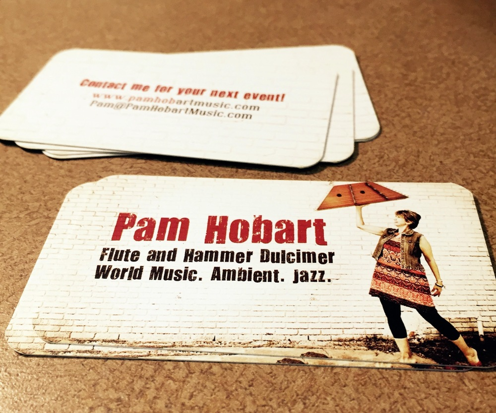 Pam Hobart Musician Business Card — Tiffany Q Studio