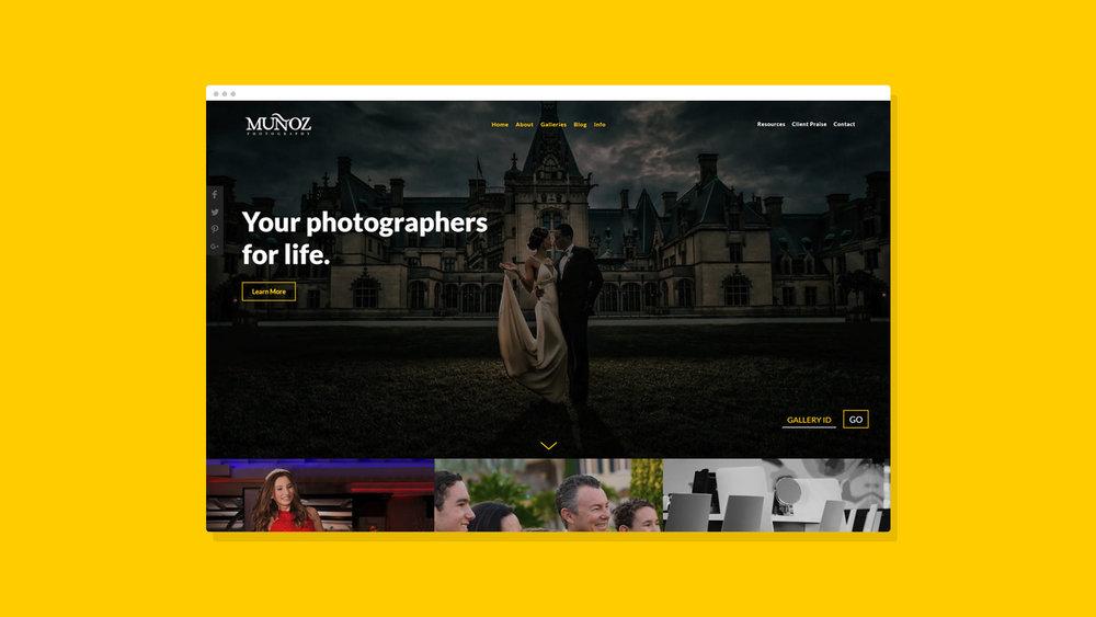 Muñoz Photography Website Showcase 1