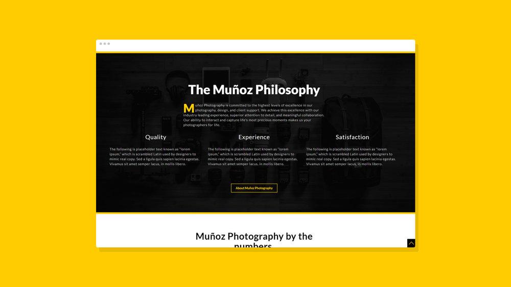 Muñoz Photography Website Showcase 2